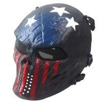 CS Ejército Paintball Airsoft Balaclava Full Face Protector Máscara de Calavera Máscara De Halloween Party Cosplay Horror Scary Máscara Anónima
