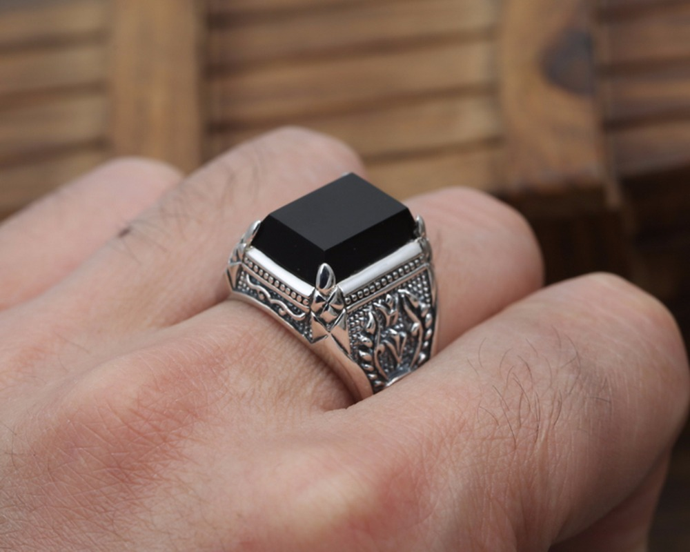 DL S925 pure silver knights of Thai silver ring Fashion paragraphs domineering man finger ring tide restoring ancient ways J118 925 silver men s ring thai silver national wind restoring ancient ways domineering silver ring pop open wholesale offered