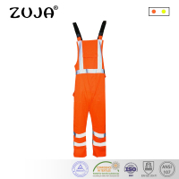 High Quality Fluorescence Orange High Visibility Safety Overall Hi Viz Reflective Workwear