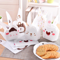 50Pcs Lot 22 14cm Rabbit Ear Plastic Gift Bag Birthday Party Wedding Cookie Candy Packaging Christmas