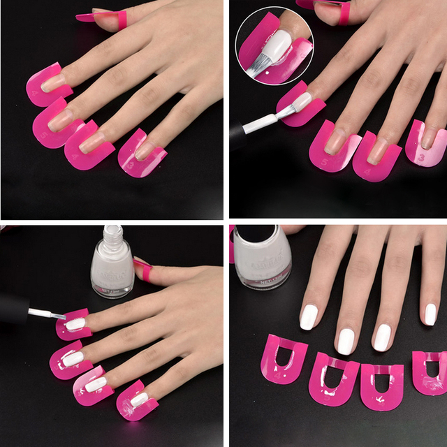 Newest Beauty 26pcs/pack Nail Gel Polish Protector Creative Spill-Resistant Manicure Finger Cover Nail Polish Shield Protector