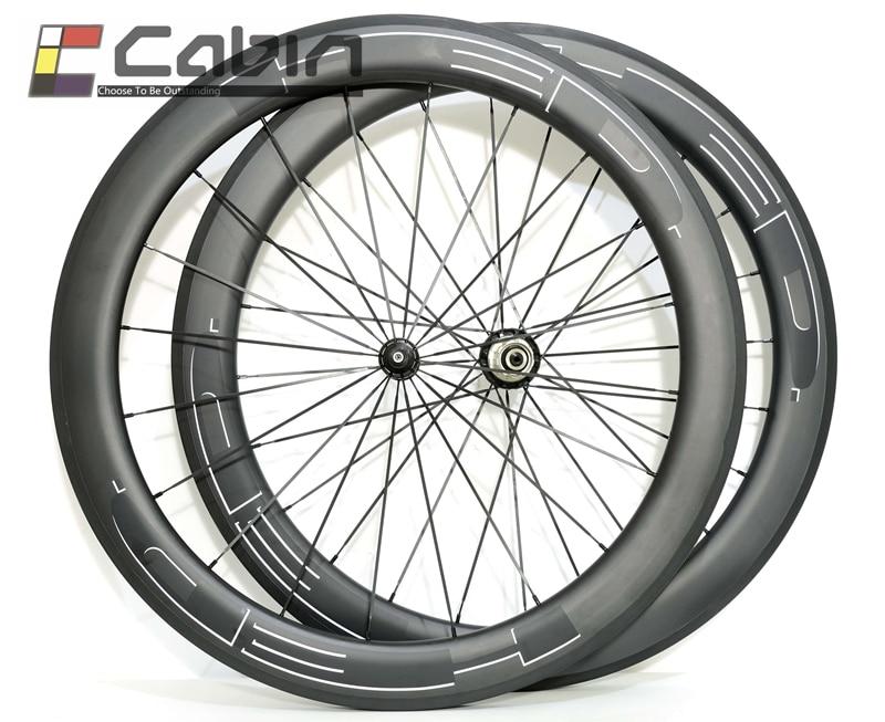 Big sale 60mm clincher tubular HED road bike carbon wheel 700C 23mm width road bike carbon