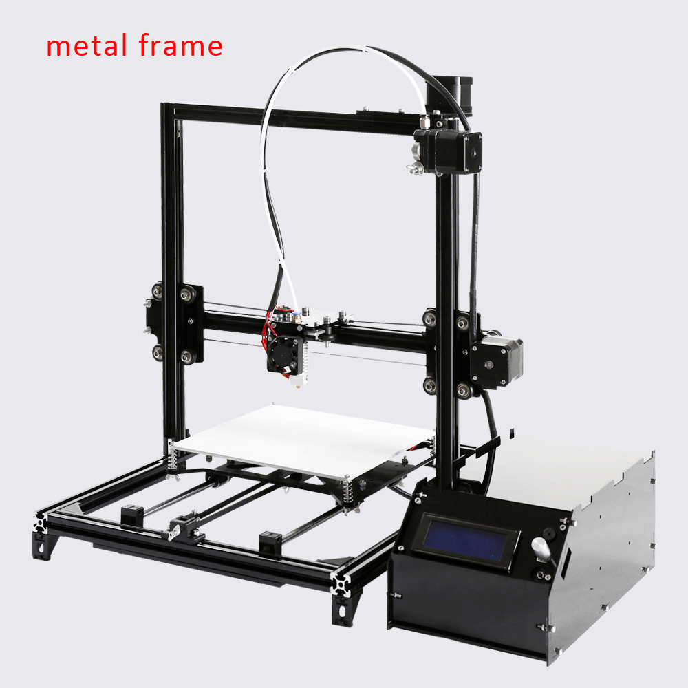 2016 New 3d Color font b Printer b font Kits Large Size 3dprinter With Filament 8GB