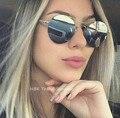New cat eye sunglasses mujeres diseñador de la marca de moda vintage ronda gafas de sol de lujo gafas de sol oculos feminino 2017 chic