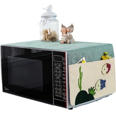 Rustic fabric microwave hood beauty galanz oven belt storage bag dust cover anti oil in Microwave Oven Covers from Home Garden