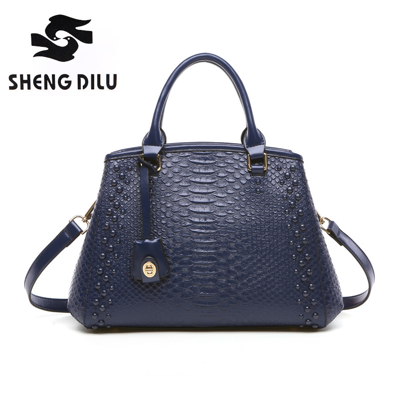 Leather Ladies HandBags Women Leather bags Totes Messenger Bags Hign Quality Designer Luxury Brand Bag women leather handbag famous brand luxury handbags women bags designer ladies messenger bags patchwork hasp sequined bow bag