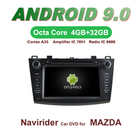OTOJETA Car GPS Android 9.0 Radio FOR MAZDA 3 2010 2011 2012 Navigation integrated stereo Capacitive screen Support Mirror Link