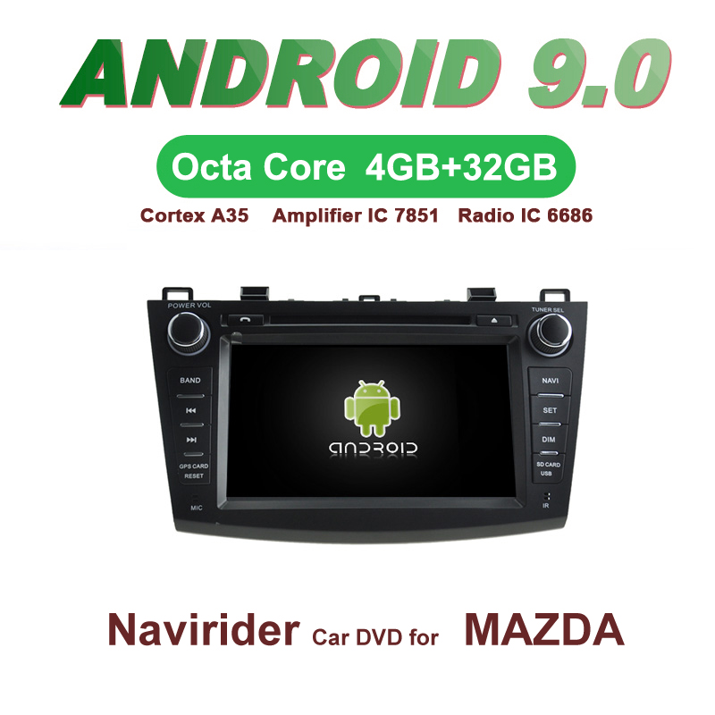 OTOJETA <font><b>Car</b></font> GPS Android 9.0 <font><b>Radio</b></font> FOR <font><b>MAZDA</b></font> <font><b>3</b></font> <font><b>2010</b></font> 2011 2012 Navigation integrated stereo Capacitive screen Support Mirror Link image