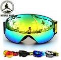 NaturalHome Ski Goggles Double UV400 Anti-fog 2017 Ski Mask Glasses Skiing COPOZZ Men Women Snow Snowboard Goggles Lens