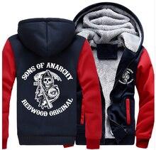 Freies Verschiffen USA größe Männer Frauen Verdicken Reißverschluss Cosplay Kostüm Jacke Hoodie Sweatshirts Mantel Unisex Casual
