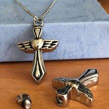 Heart Cross Urn Necklace