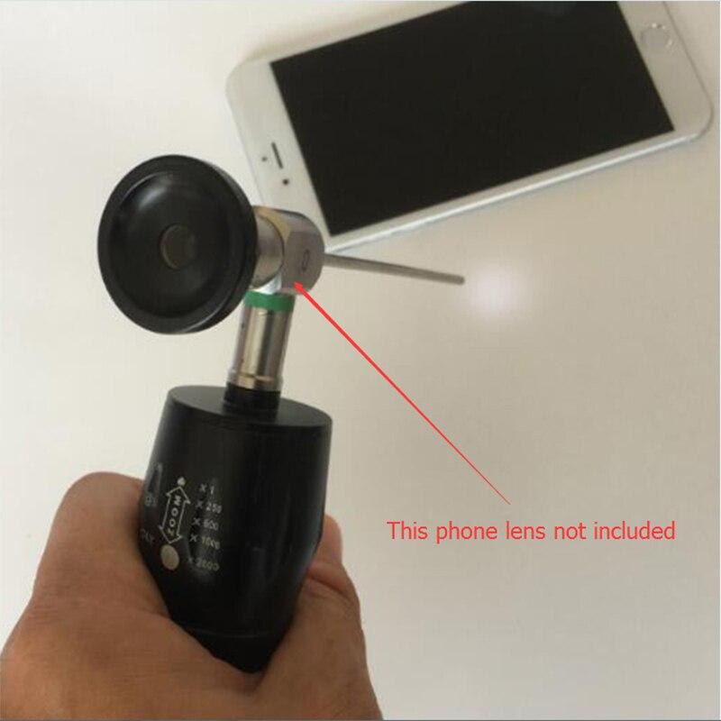 1 Pz HD 5 W 6 HA CONDOTTO LA Luce Ad Alta Potenza Portatile Endoscopio Medico Sorgente di luce bordo Maniglia Zoom Lens per Samsung Galaxy S6 s7 fotocamera