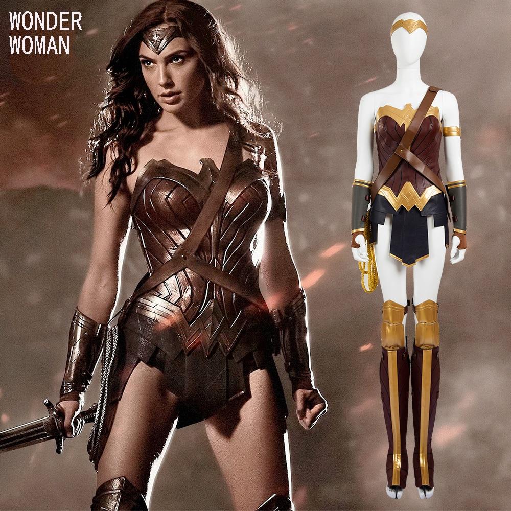 Wonder Woman Costumes Adult 2017 Movie Cosplay Custom Made -9334