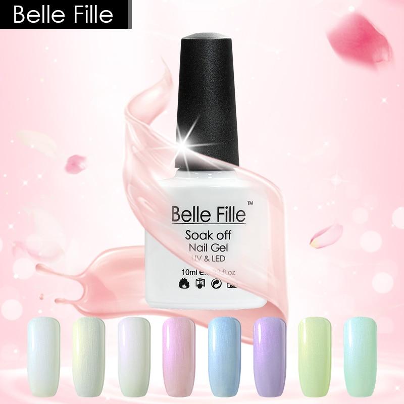 Belle Fille Shell 10ml Shell Gel Nagellak 12 Pearl White Kleuren voor - Nagel kunst