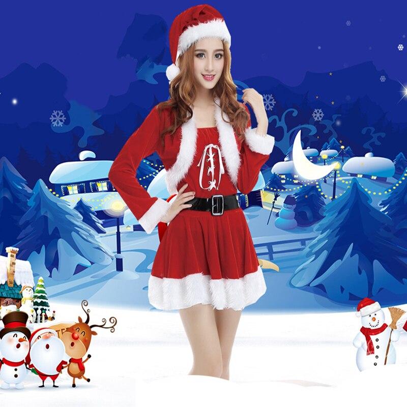 New Christmas Cosplay Costumes Christmas Santa Claus Cosplay Costumes Christmas Party Women Costumes