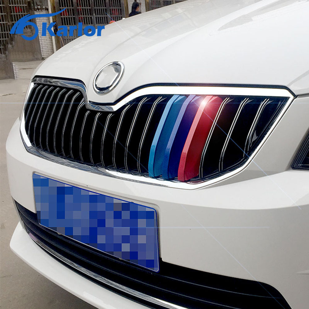 3D M Styling Car Parrilla Delantera Recortar Tiras De Deporte Cubierta  Motorsport Pegatinas De Rendimiento De Energía Para 2015 .