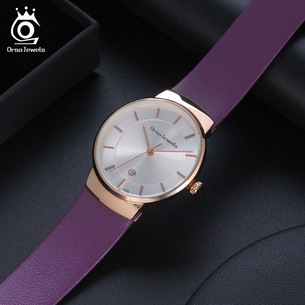 ORSA JEWELS Dress Watch For Women Luxury Fashion 4 Colors Wristwatches Office Ladies Gift Relogio Feminino Jewelry OW04 3