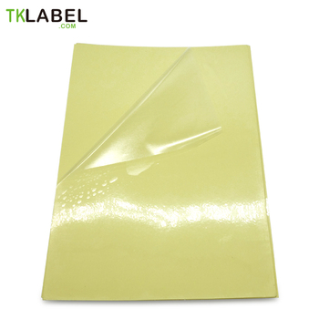 a4 label sticker for laser printer, 50-60 sheets, waterproof clear PET with Scratch resistance coating