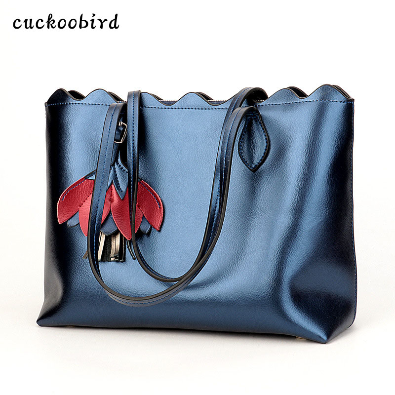 2018 new handbags handbags commuter bag casual European and American fashion leather shoulder bag diagonal package commuter
