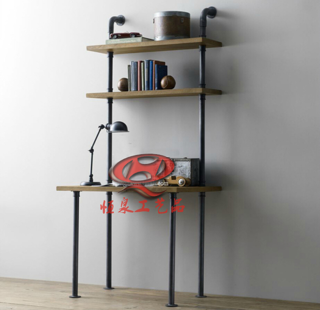 am ricaine de style industriel plomberie tuyaux de la personnalit cr ative r tro biblioth que. Black Bedroom Furniture Sets. Home Design Ideas