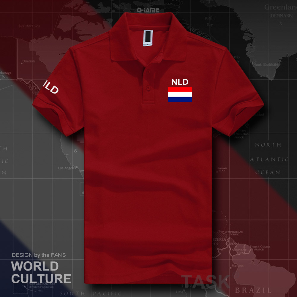 Netherlands Dutch polo shirts men short sleeve white brands printed for country 2019 nation team flag Nederland Holland NLD NL 2