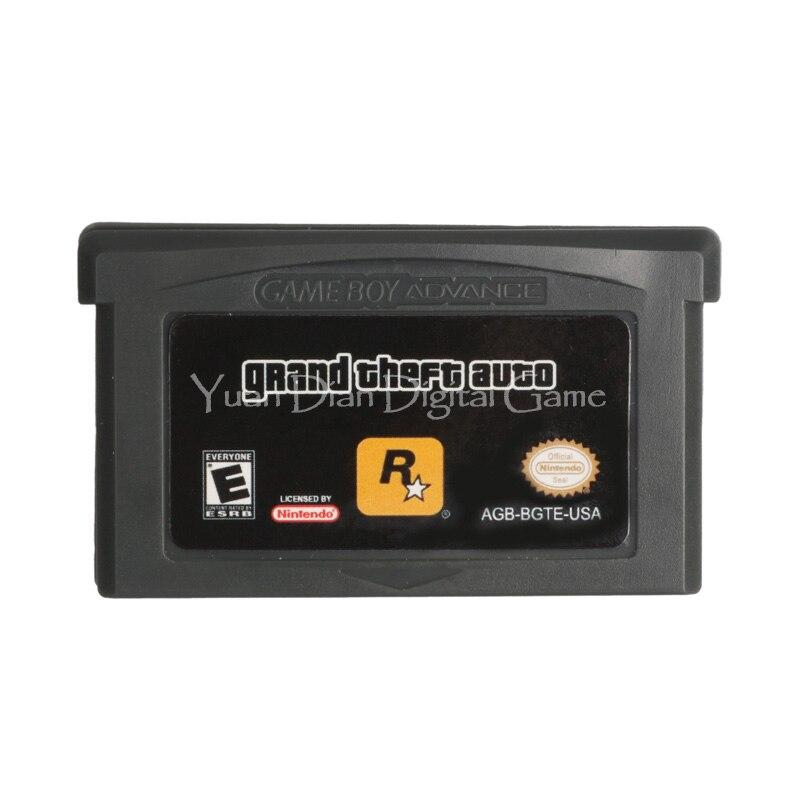 Yuan Dian Digital Game Store Store Nintendo GBA Video Game Cartridge Console Card Grand Theft Auto English Language Version