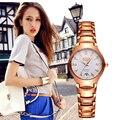 BOSCK relógios de Quartzo Moda Assistir As Mulheres Se Vestem relógios relojes mujer relogio feminino pulseira de ouro de Tungstênio de Aço à prova d' água