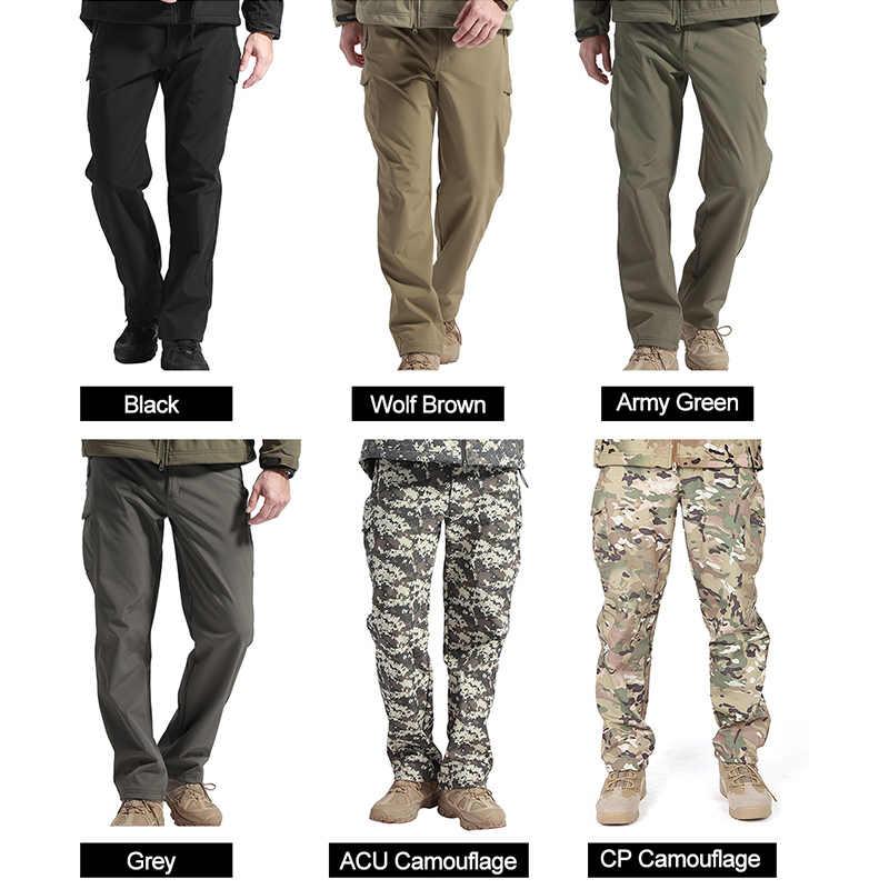 Pescar para Trekking Pantalones de Invierno con Forro Polar T/érmico para Exteriores FREE SOLDIER Pantalon Impermeable Hombre Caminar Pantalones de Trabajo Softshell