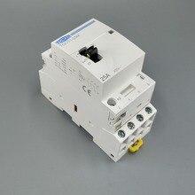 TOCT1 4P 25A 220 V/230 V 50/60HZ Din rail бытовой ac Контактор В соответствии с стандартом с ручным Управление переключатель 4NO или 2NO 2NC или 4NC