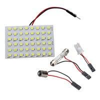 Bom painel âmbar 48 smd led carro t10 ba9s festão cúpula lâmpada interior w5w c5w t4w lâmpadas fonte de luz do carro estacionamento d020