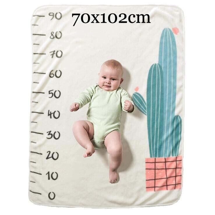 Прямоугольное одеяло-Ростомер для новорожденного ребенка/ребенка, подарок для мальчика, одеяло для фотосъемки 76X102 см - Цвет: Plant