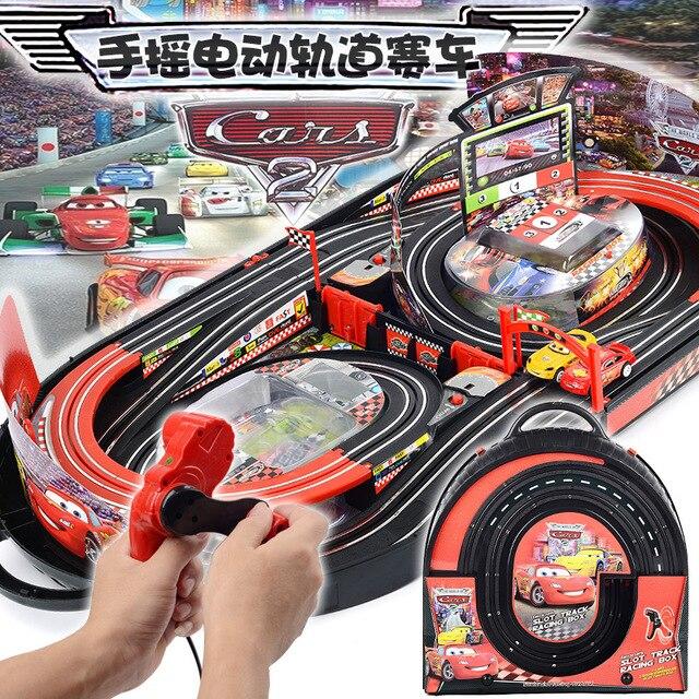 В наличии Лидер продаж Электрический RC трек наборы для детей подарок игрушка железнодорожные треки автомобили родитель-ребенок Взаимодейс...
