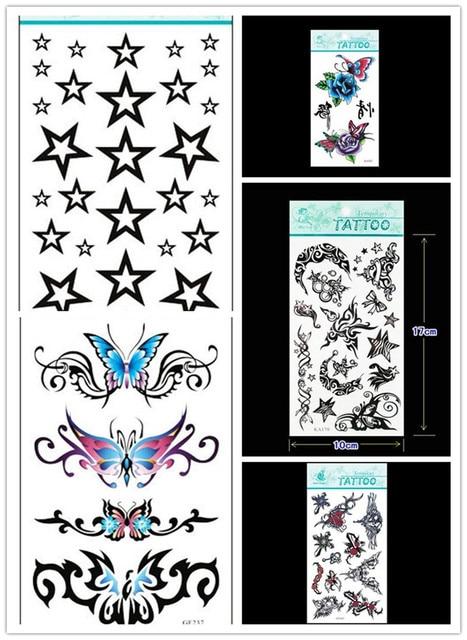2014 New Fashion Temporary Tattoos 5pcs New Tattoo Waterproof Arm