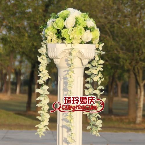 Свадебные композиция Диаметр Цветок свадебное оформление букета цветок для дорожного свинец римская колонна 4 шт./лот - Цвет: 6