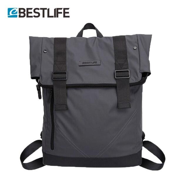 BESTLIFE для мужчин повседневное рюкзаки искусственная кожа флип Mochila  Escolar Модные мужские городской непромокаемые ноутбук дорожные 24c412677e7