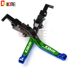 DIY Colors Motorcycle Accessories CNC Adjustable Brake Clutch Levers For Honda CB400SF CB400SS CBR400F CB400 CB 400 VTEC