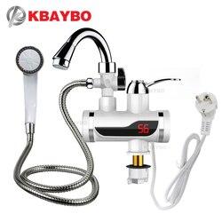 3000 واط عرض درجة الحرارة لحظة صنبور الماء الساخن Tankless صنبور كهربائي المطبخ الساخن لحظة صنبور سخان مياه المياه التدفئة