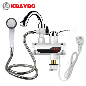 3000W Temperature Display Instant Hot Water Tap Tankless Electric Faucet Kitchen Instant Hot Faucet Water Heater Water Heating header civic eg