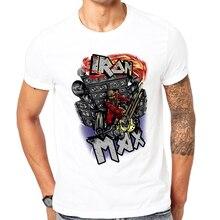 2017 Hot Tops New Fashion Printed Rock skull men T shirts Summer Short Sleeve T-shirt men White T-Shirts funny design