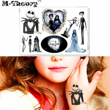 M-theory Jack Skull Temporary Makeup 3d Tattoos Sticker Henna Tatuagem Body Art Tatto Flash Tatoos Sticker Toy Decoration Decals