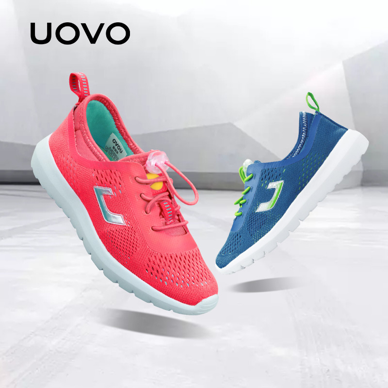 UOVO 2018 Summer Breathable Kids Running Shoes Fashion Brand Boys And Girls Casual Shoes Mesh Sport Shoes Sneakers Size 31#-37# uovo 2018 summer breathable kids running shoes fashion brand boys and girls casual shoes mesh sport shoes sneakers size 31 37