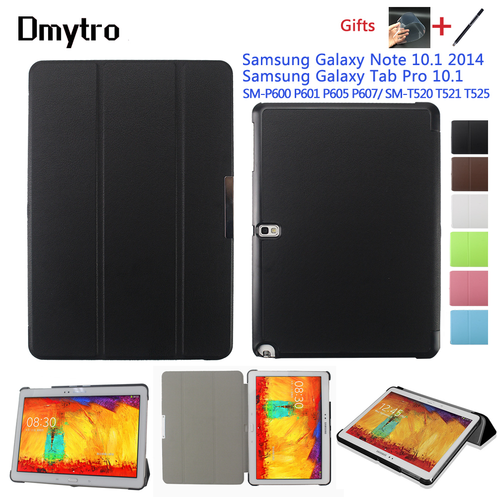 For Samsung Galaxy Note 10.1 2014 edition P600 P601 P605 P607 Tab Pro T520 T525 Tablet Smart PU Leather Cover Case Free Pen+Film|Tablets & e-Books Case| |  - title=