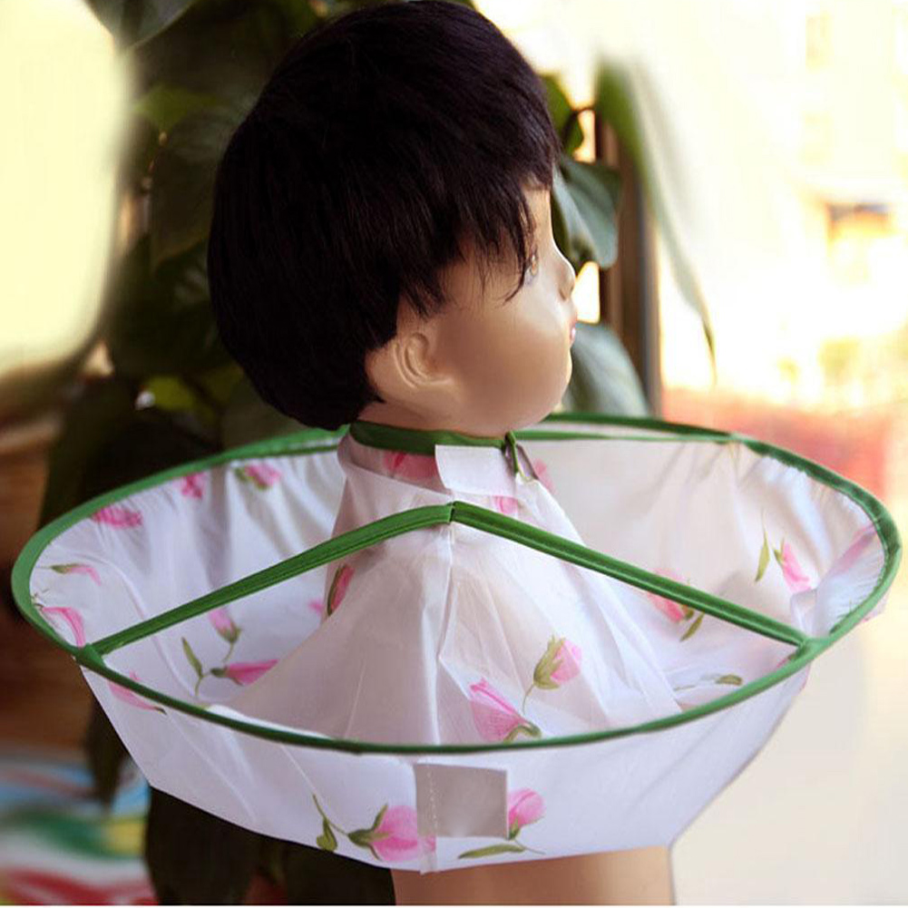 Infant Baby Hair Cutting Cape Flower Gown Salon Hairdresser Barber Apron Kids Barber Apron Children Sweet Hair Accessorie&Props