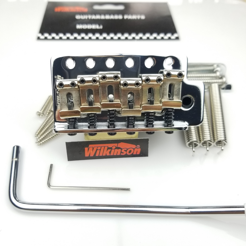 Bridge Tremolo-System Electric-Guitar Wilkinson Vintage-Type Silver Chrome WOV01 New title=