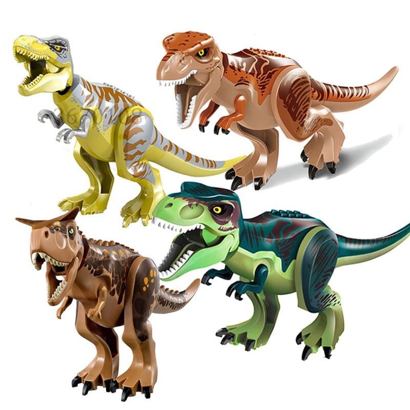 Galleria fotografica Jurassic World 2 Tyrannosaurus <font><b>Rex</b></font> Building Blocks Dinosaur Jurassic Figure Giocattoli Dei Mattoni Toy Collection
