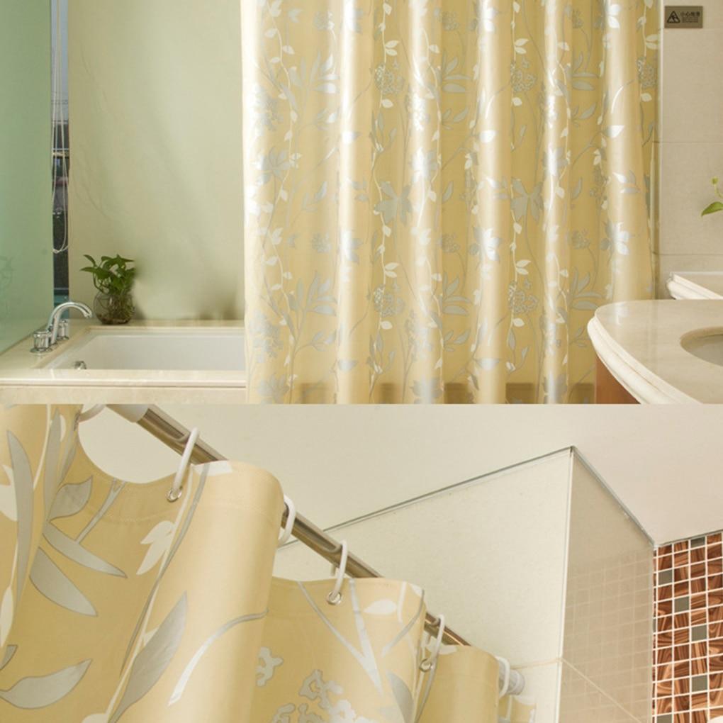 Various sizes PEVA Flower Printed Door Shower Curtain Waterproof ...