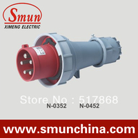 N 0452 125A 220 415V 3P+N+E 5pin Industrial Plug with CE ROHS 1 Year Warranty IP67 Degree PA66