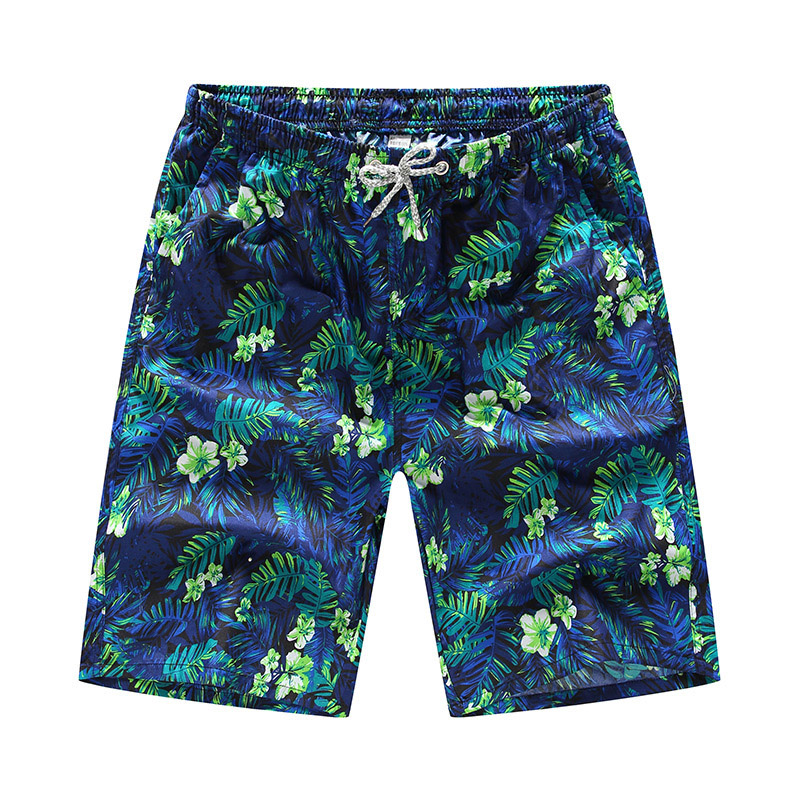 Starfish and Coral Mens Beach Shorts Breathable Athletic Shorts with 3 Pockets