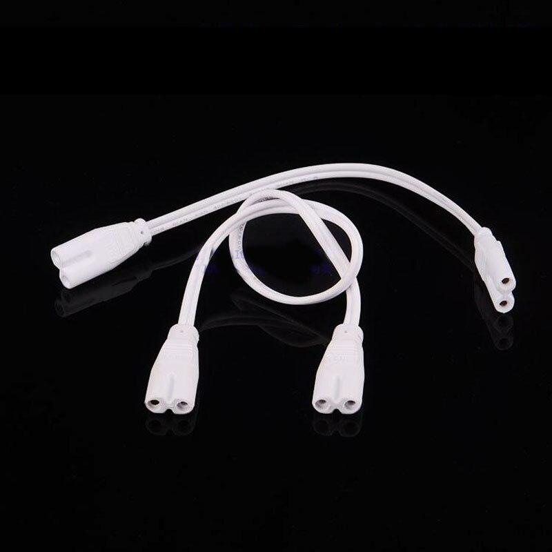 <font><b>T4</b></font> T5 T8 Двойной разъем кронштейн лампы соединительный шнур 50 см кабель для светодиодные трубки разъем провода женский 20 шт.