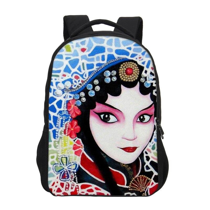 VEEVANV Backpacks Bookbag Chinese Mochila Shoulder-Bag Girls Fashion Cartoon New Beijing